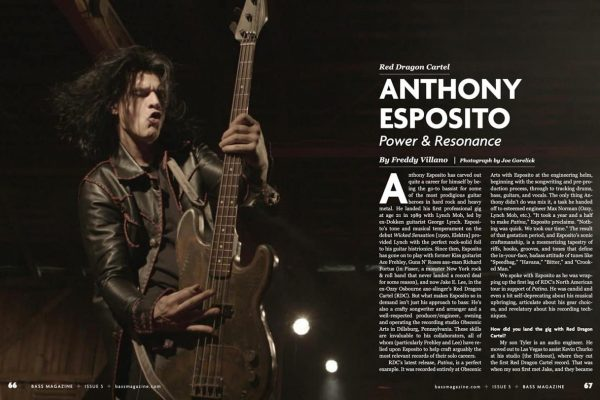 Anthony Esposito featured in Bass Magazine, November 2019